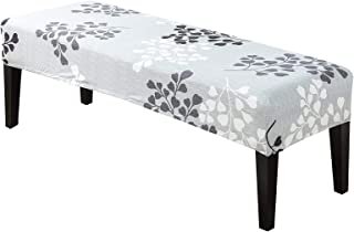 Surrui Dining Bench Cover Piano Stool Slipcover Rectangular Piano Bench Cover for Living Room Kitchen Bedroom #1