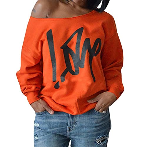Plus Size Womens Tops T Shirts Blouses Short Sleeve Tee Off Shoulder Clover  Leaf Printed (