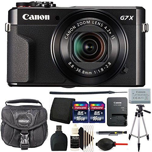 Canon PowerShot G7 X Mark II 20.1 MP Digital Camera Black (International Version) Best Accessory Bundle