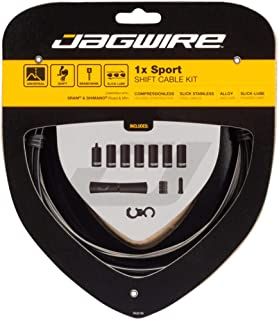 Jagwire - 1x Sport Sealed DIY Shift Cable Kit | for Road, MTN, and Gravel Bike | SRAM and Shimano Shifter Compatible, Sport Slick Cables with Compressionless Housing | Black