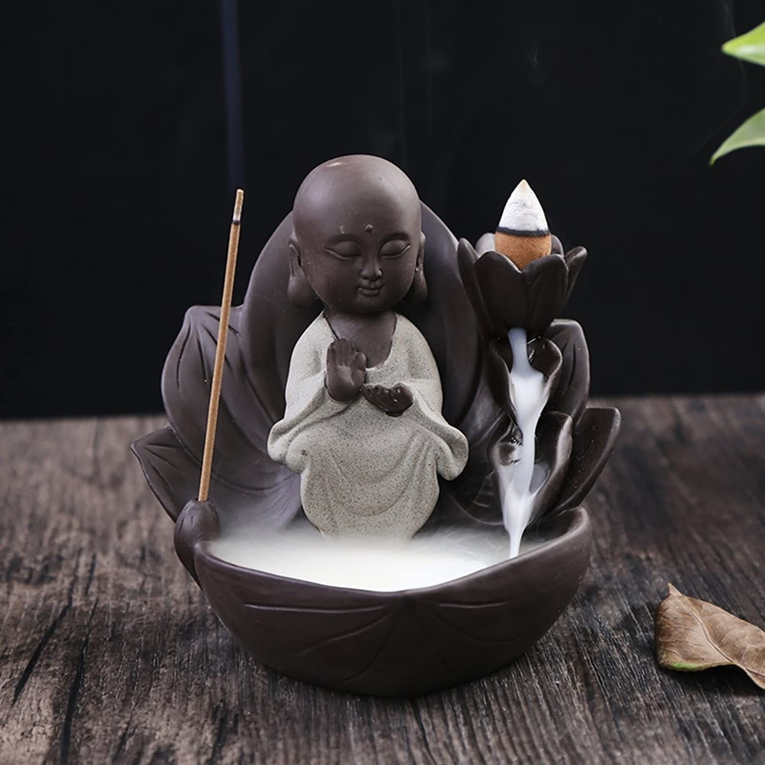 Back Incense Burner Ceramics Aroma Stove Creative Back Incense Burner Home Fragrance Plutus Decoration-M