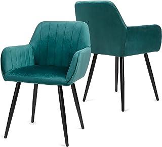 Besit Lot de 2 Chaises de Salle à Manger Scandinaves Fauteuil Chaise de Cuisine Rembourrée Chaise Design Chaise de Salon C...