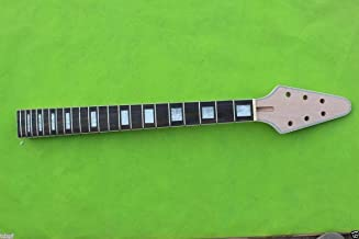 Yinfente Guitar Neck 22 fret For Electric Guitar Replacement Maple Mahogany Unfinished Flying V (bolt-on-rosewood)