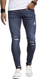 LEIF NELSON Herren Jeans Hose Slim Fit | Denim Blaue graue Lange Jeanshose für Männer | Coole Jungen weiße Stretch Freizeithose Schwarze Cargo Chino Sommer Winter Basic | LN9145