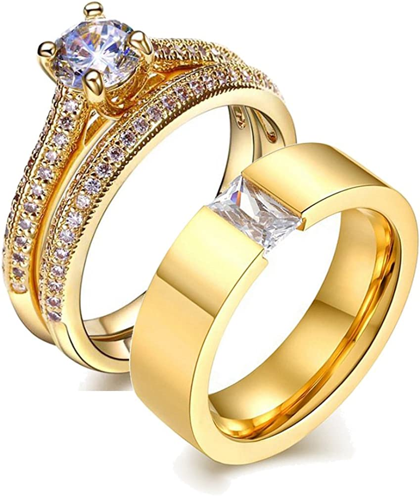 His and Hers Wedding Ring Sets Raleigh Mall Fil Rings Yellow Couples Now free shipping 10K Gold
