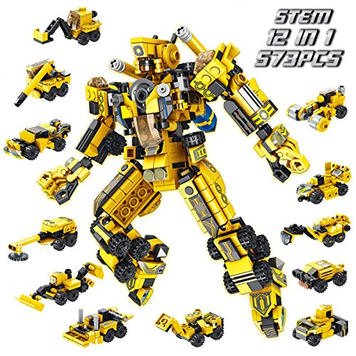 PANLOS Robot STEM Toy Engineering Building Blocks Building Bricks Toy kit  for Boys 6 Years Old or Older Tight Fit and Compatible with All Major Brands 570 PCS