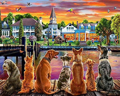 Dockside Dogs Jigsaw Puzzle 1000 Piece