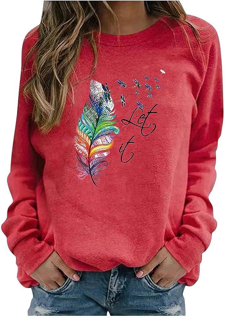 Sweatshirts for Women,Womens Crewneck Sweatshirts Plus Size Long Sleeve Vintage Tie Dye Print Pullover Shirts