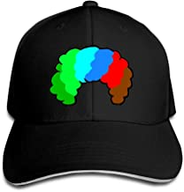 Teesofun Unisex Sandwich Peaked Cap Funny Colorful Clown Wig Adjustable Cotton Baseball Caps