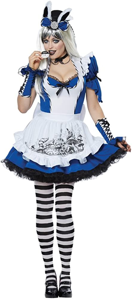 Spring new work Under blast sales one after another California Costumes Women's Mad Alice Costume