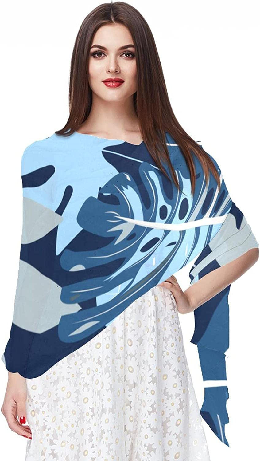 Scarfs for Women Lightweight Print Floral Pattern Scarf Shawl Fashion Scarves Sunscreen Shawls, Tropical Colorful Leaves Flowers