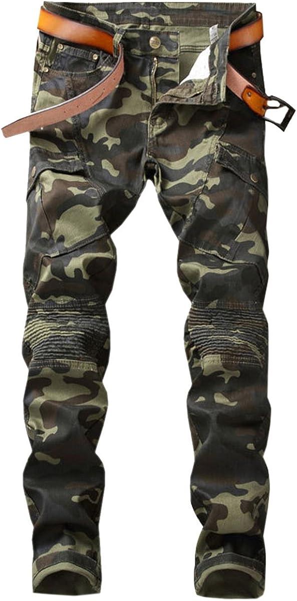 Low price QZH.DUAO Men's Camo Online limited product Denim Jeans