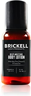 Brickell Men's Deep Moisture Body Lotion for Men, Natural and Organic Protects and Hydrates Dry Skin, 2 Ounce, Scented