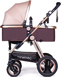 Infant Baby Stroller for Newborn and Toddler - Cynebaby Convertible Bassinet Stroller Compact Single Baby Carriage Toddler...