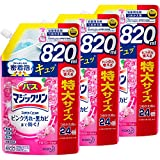 【Amazon.co.jp 限定】【まとめ買い】バスマジックリン 風呂洗剤 泡立ちスプレー SUPERCLEAN アロマローズの香り 詰め替え 大容量 820ml*3個