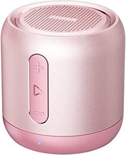 Anker SoundCore mini, Super-Portable Bluetooth Speaker with 15-Hour Playtime, 66-Foot Bluetooth Range, Enhanced Bass, Noise-Cancelling Microphone (Pink)