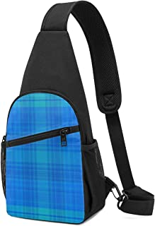 Rainy Day Plaid Sling Bag - Mochila ligera para el hombro, mochila para el pecho, bolsa cruzada, para viajes, senderismo, ...