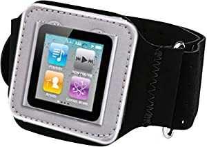 PiGGyB SOO Suede Armband for Apple iPod Nano 6 Generation & iPod Shuffle 1st 2nd 3rd 4th 6th Generation Models A1373 A1271 A1204 A1112 A1051