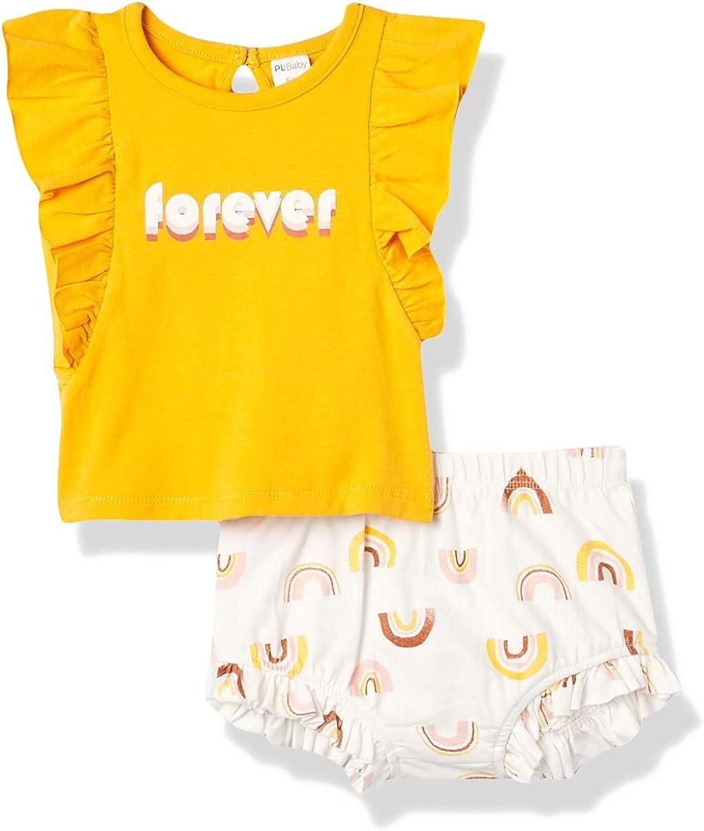 Petit Lem baby-girls Pl Baby 3pc quality assurance Shorts Set: Top S Headband + El Paso Mall