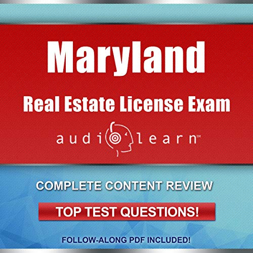 Maryland Real Estate License Exam AudioLearn audiobook cover art