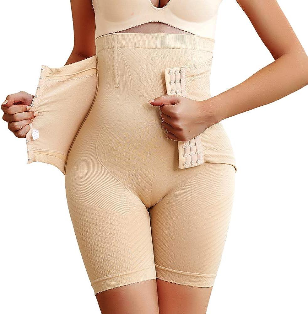Larry&Marry Women Shapewear Butt Lifter Hi-Waist Double Tummy Control Body Shaper Shorts Waist Trainer Panty