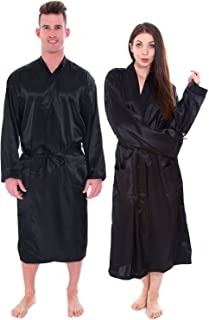 2 Pieces Couple Set Solid Colored Lightweight Warm Spa Robe
