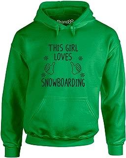 Brand88 - This Girl Loves Snowboarding, Printed Hoodie