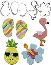 Tropical, Luau, Hibiscus Flower, Pineapple, Flamingo, Flip Flops Cutie Cupcake Mini Cookie Cutters by Autumn Carpenter for Cookies, Fondant, or Gum Paste