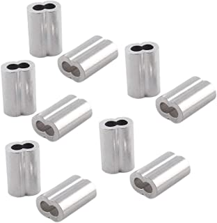 SDTC Tech Aluminum Crimping Loop Sleeve Dual Hole Cable Ferrule for 3/16