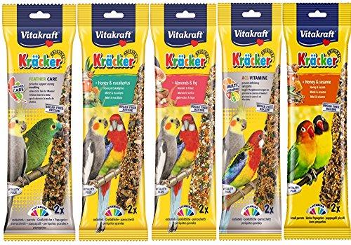 Vitakraft Mixed Vielzahl 5x Twin Pack 10Sticks Sittiche Nymphensittiche Aufhängen Käfig BIRD SEED behandelt
