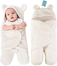 Truedays Newborn Sleeping Wrap Swaddle Baby Cotton Plush Boys Girls Cute Receiving Blanket Sleeping Bag Sleep Sack (0-12 Month)