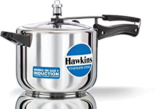 Hawkins  Stainless Steel Induction Compatible Base Pressure Cooker, 5 Litres, Silver