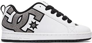 DC Men's Court Graffik SE Skate Shoe, White/Heather Grey, 13 D D US