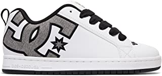 DC Men's Court Graffik SE Skate Shoe, White/Heather Grey, 10.5D D US