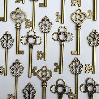 Sponsored Ad - Salome Idea Mixed Set of 30 Large Skeleton Keys - Set of 30 Keys (Bronze Color)