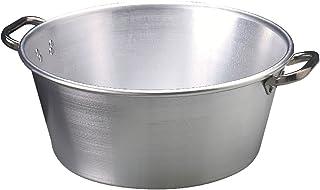 Ollas Agnelli condensación Jam Aluminio, con 2 Asas en Acero Inoxidable, 20 litros, Plata
