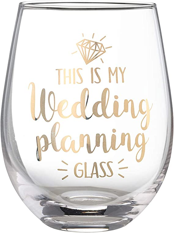 Lillian Rose G117 WP Wedding Planning Stemless Wine Glass