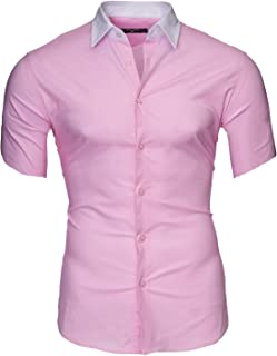 4404a7fe Kayhan Hombre Camisa Manga Corta Slim Fit S M L XL 2XL - Modello Florida +  Maimi