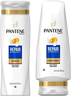 Pantene Repair & Protect Shampoo and Conditioner Set, 12.6 Fl Oz and 12 Fl Oz (Set Contains 2 items)