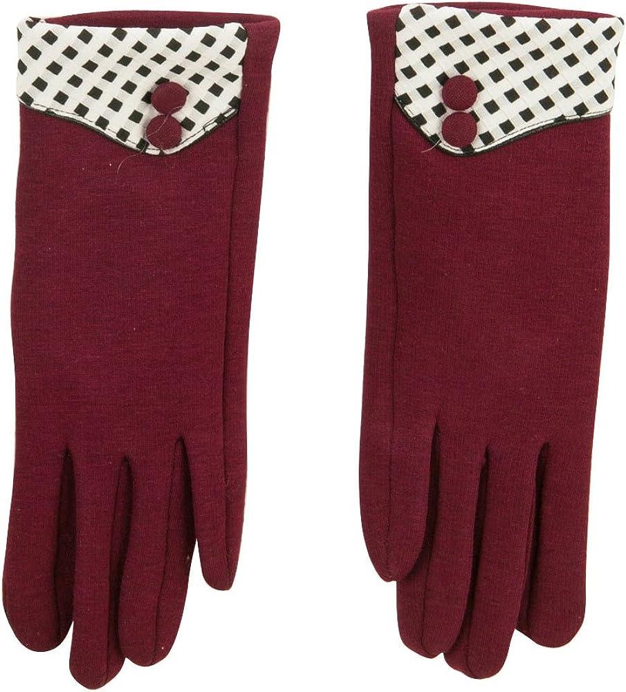 Women's Checkered Cuff Texting Glove
