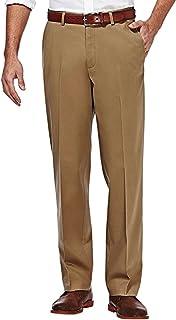سراويل Haggar Clothing للرجال قابلة للتمدد المستدام من الأمام بمقاس مستقيم 36x29 جملي