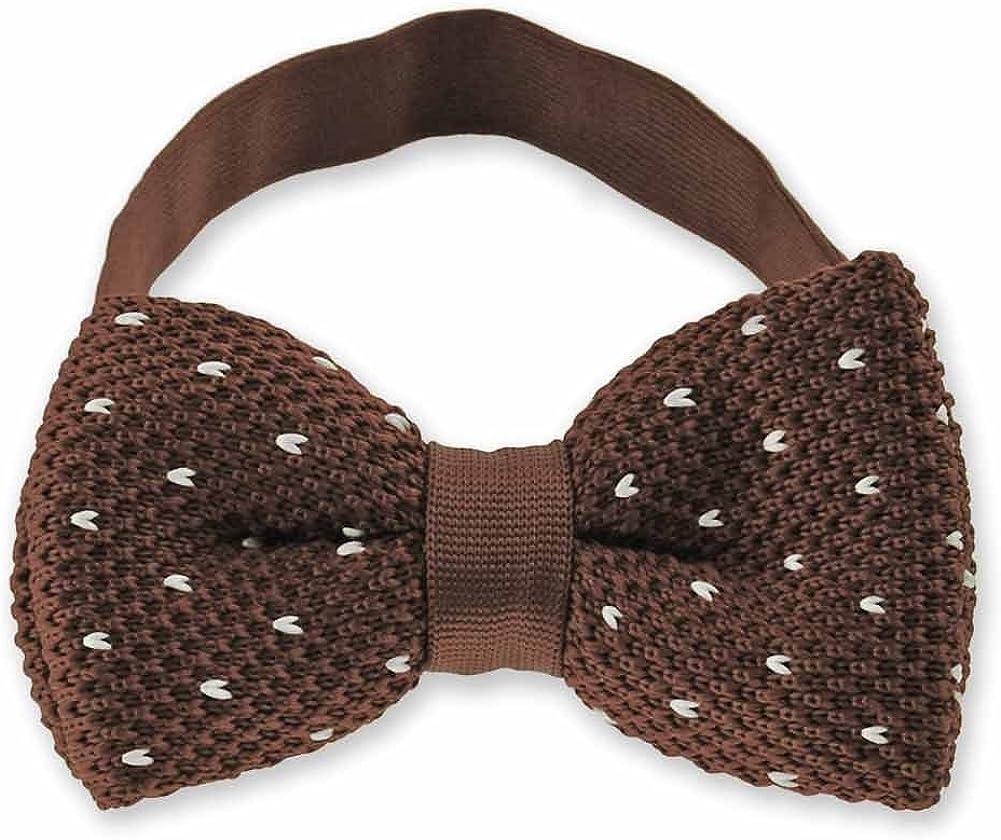 TieMart Knit Pre-tied Adjustable Bow Tie