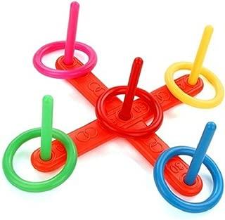 Fengzhicai Family Kids Plastic Hoop Ring Toss Quoits Garden Game Pool Toy Outdoor Fun Set
