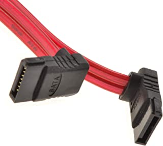 """New 36 inch SATA 6Gbps Cable w//locking Latch Right Angle Silver 36"""" 3FT 3 Ft"""