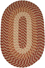 product image for Plymouth 8' Round Braided Rug in Sunset Copper Made in USA