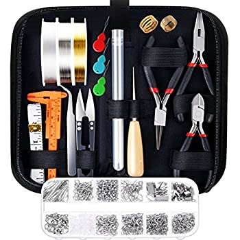 Paxcoo Jewelry Making Supplies Kit with Jewelry Tools Jewelry Wires and Jewelry Findings for Jewelry Repair and Beading