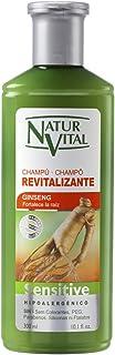 NATUR VITAL champú sensitive revitalizante con ginseng bote 300 ml