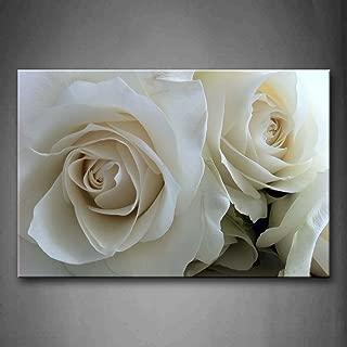 white rose canvas