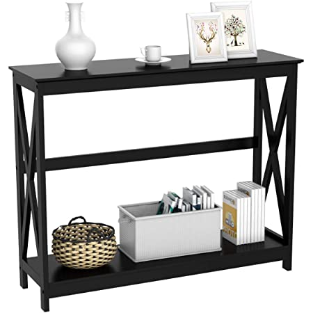 Amazon Com Monarch Specialties 47 Console Table Sleek And Modern Accent Table For Your Home Cappuccino Dark Brown Furniture Decor