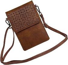 VILLCASE Bolsa de Telefone Celular Bolsa Pequena Carteira de Couro Bolsa Touch Screen Mini Bolsa Crossbody Bolsa de Ombro ...